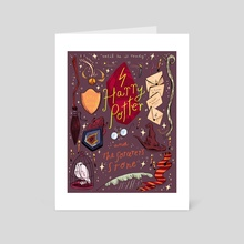 Harry Potter and the Sorcerer's Stone - Art Card by Natalie Andrewson