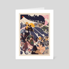 Demon Slayer ride - Art Card by mochipanko