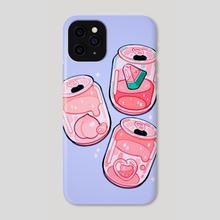 Mini Pink Soda - Phone Case by Meyoco