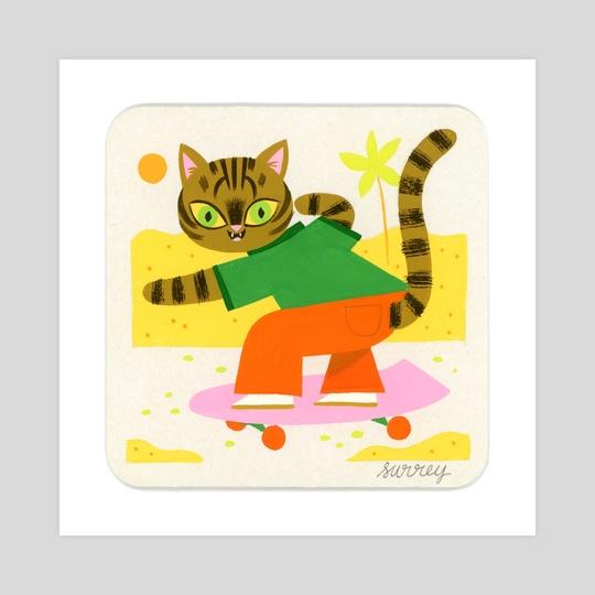 Skater Cat by Ellen Surrey