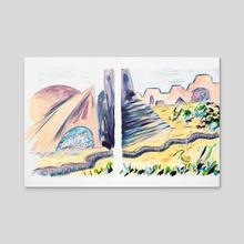 X voYages de Zed - Parcours 1 - Toile 10 - Acrylic by Cécile Congost