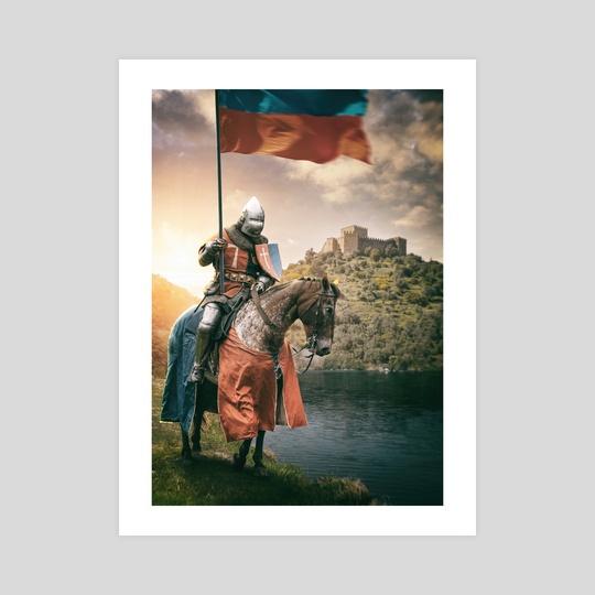 Medieval Knight in Belver Castle by Carlos Caetano