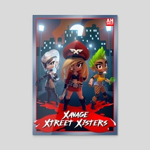 Xavage Xtreet Xisters - Acrylic by Andrew Hickinbottom