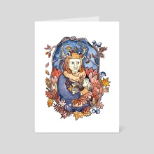 The Old Lady of Autumn - Art Card by Aimee Lockwood