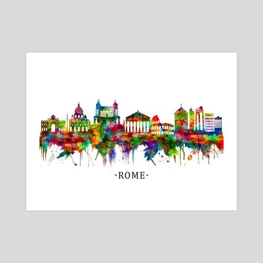 Rome Italy Skyline by Towseef Dar