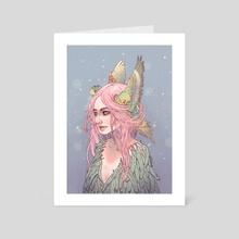 Budgie - Art Card by Shanice Casey Art