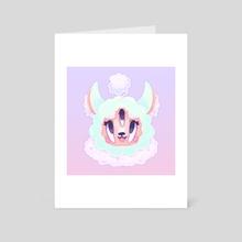 Strange Alpaca - Art Card by Ashley Brielle