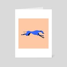 Greyhound pose 4 - Art Card by Joanna Dudoń