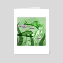 Mermay 23 Pistachio green - Art Card by Marion Bartier