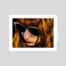 Adult Woman with Glasses Portrait Illustration - Art Card by Daniel Ferreira Leites