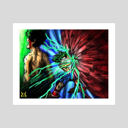 My Hero Academia - Midoriya VS Muscular Villain by Victor Ku