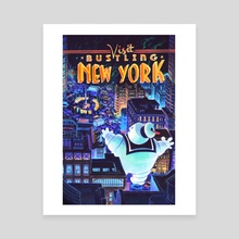 Stay Puft Visits New York - Canvas by Veronica Fish