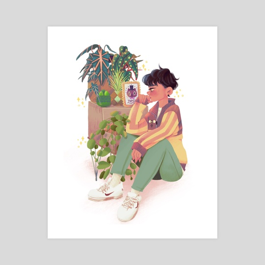 Boy and Plants by KLY🤹🏻‍♂️
