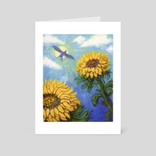 Afternoon Sunflower - Art Card by Alexi Molinari