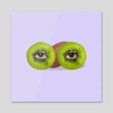 Psychedelic kiwi. - Acrylic by igor kalatay