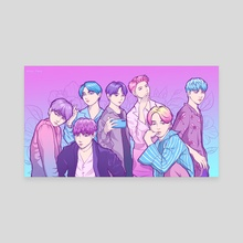 Aesthetic BTS - Canvas by Fany Misu