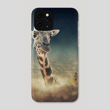 sky giraffe - Phone Case by Even Liu