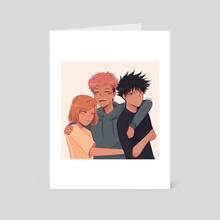 JJK Trio Hug - Art Card by gen