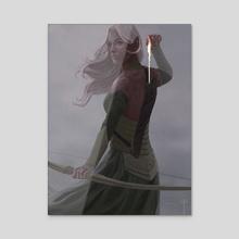 The Last Elven Arrow - Acrylic by Claudio Pozas