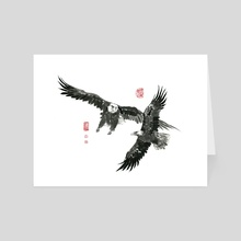 Eagle - 19 - Art Card by River Han