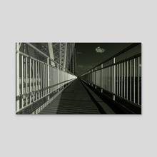 On The Marine Parkway Bridge, New York, New York City (2020-8-GNY-210) - Acrylic by Vlad Meytin