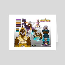 King Yah (Character Sheet) - Art Card by Corey Coleman
