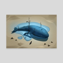 52 Hertz Whale - Canvas by Nina Limarev
