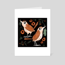 Carolina Wrens - Art Card by Bee