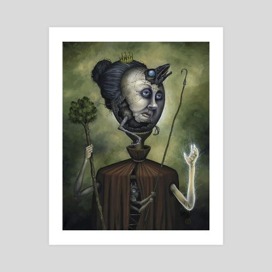 Queen Of Wands by Jeff Christensen