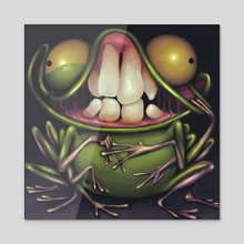 Crazy Frog - Acrylic by Charles Harris