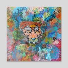 Tiger - Acrylic by Noemí Ibarz