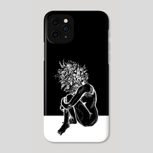 Blossom in The Void - Phone Case by Kate Trish