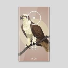 Bird Tarot - The Sun - Acrylic by Fiona Marchbank