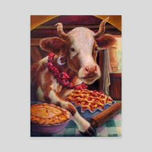 Cow Pies - Canvas by Annette Hassell