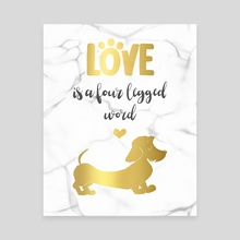 Wire hair Dachshund gold - Canvas by Laura R