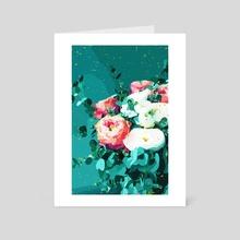 Floral & Confetti - Art Card by 83 Oranges