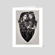 Dark Circus: Mime - Art Card by Tiffany D