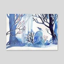 Winter Bird - Acrylic by Faryn Hughes