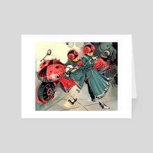 Lady Bugs - Art Card by Sarah  Baslaim