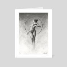 Charcoal study #01 - Art Card by Miroslav Zgabaj