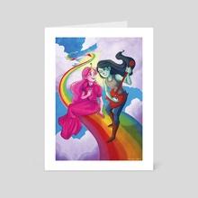 Marceline and Bubblegum - Art Card by Kathryn Mann
