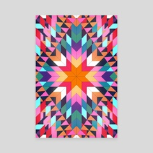 Triangles 2 abstract tribal pattern - Canvas by Mihalis Athanasopoulos