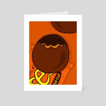 Reese's Peanut Butter Cups - Art Card by Pineapple Art