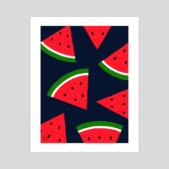 Watermelons by Pineapple Art