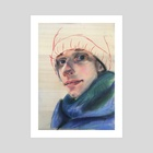 Cold winter day  - Art Print by Silvia Knödlstorfer