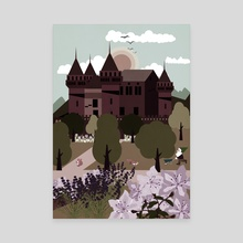 Castle and  Flower garden  2 - Canvas by Michal Eyal