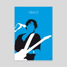 No129 MY Jeff Buckley Minimal Music poster - Canvas by Chungkong