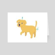 Fart Dog - Art Card by Bree Lundberg