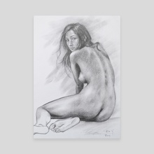Female nude #20818 - Canvas by Hongtao Huang