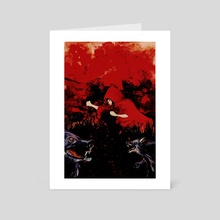 Red  - Art Card by William Jamison